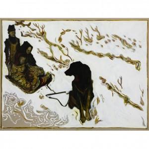 BILLY CHILDISH Seasonal Painting Print – children on dog sledge (Yukon Territory 1899)