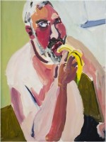 Chantal Joffe, Dan eating a banana.
