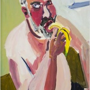Chantal Joffe, Dan eating a banana.