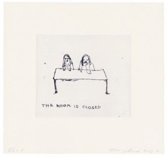 Tracey Emin, The Room is Closed, 2013.
