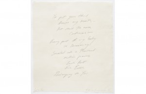 Tracey Emin, Love Poem, 2013.
