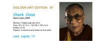 Golden Art Edition - Chuck Close - Dalai Lama