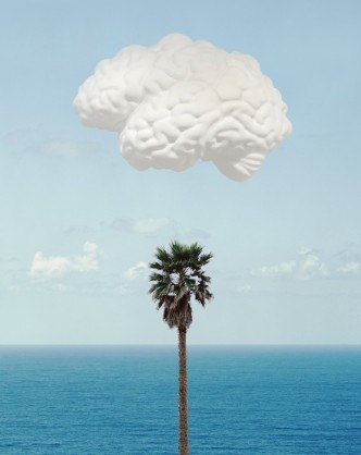 John Baldessari, 'Brain/Cloud (With Seascape and Palm Tree)', 2009
