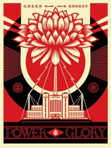 Shepard Fairey, Green Power, 2014.