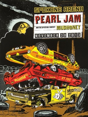 FAILE, Pearl Jam concert poster, 2013.