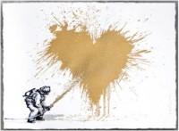 Mr Brainwash, Love to the rescue, 2014. (Gold)