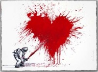 Mr Brainwash, Love to the rescue, 2014. (Red)