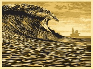 Shepard Fairey, This New Wave Is A Little Slick For My Taste, 2014.