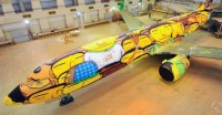 Os Gemeos: World Cup 2014 Brazil Airplane