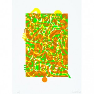 "Ryan McGinness, ""Untitled (Fluorescent Women Parts) 1"", 2014"