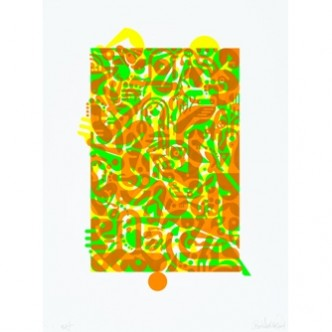 "Ryan McGinness, ""Untitled (Fluorescent Women Parts) 1"", 2014"
