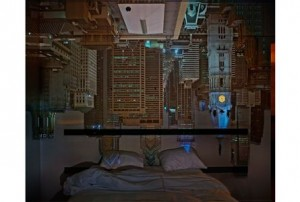 Abelardo Morell, Camera Obscura: Night View of Philadelphia From Loews Hotel Room #3013, 2014