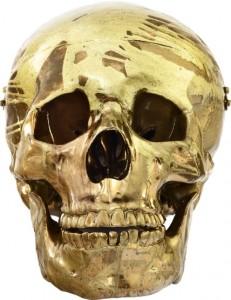 Damien Hirst, Golden Magnificent Spin Head, 2014