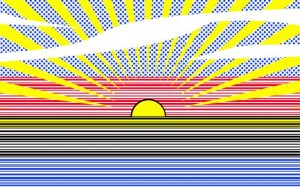 Douglas Coupland, Technical Sunrise Number One, 2014.