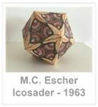 M.C. Escher - Icosaeder - 1963