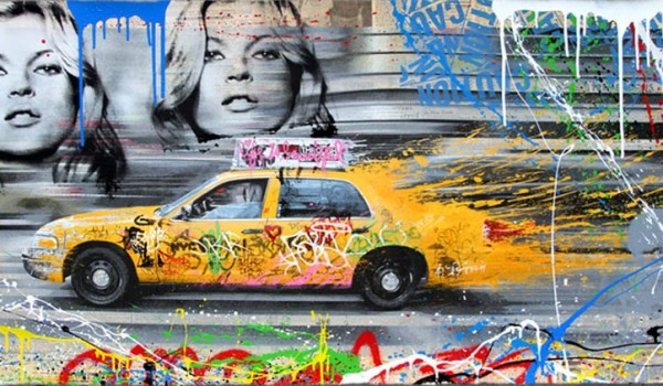 Mr Brainwash, Going to NY, 2014. (original)