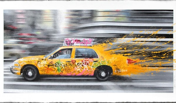 Mr Brainwash, Going to NY, 2014. (print)