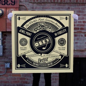 Shepard Fairey, Luxurious Sound, 2014.
