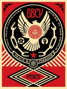 Shepard Fairey, Peace and Freedom Dove, 2014.