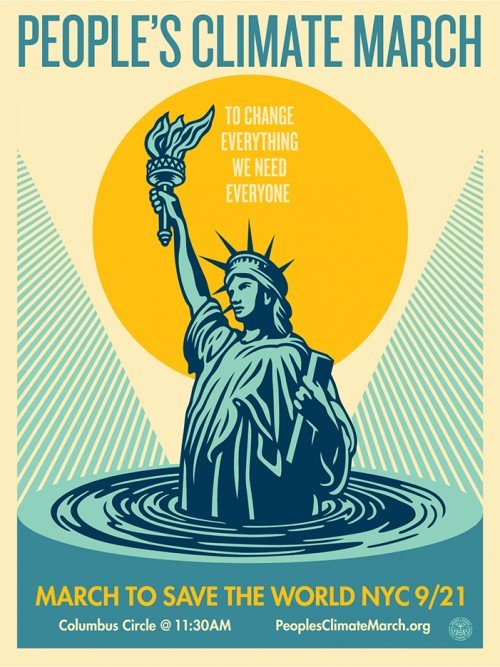 Shepard Fairey, People's Climate March - To Change Everything We Need Everyone, 2014.