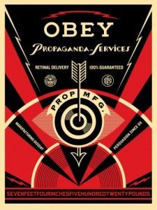 Shepard Fairey, Propaganda Services Eye, 2014.