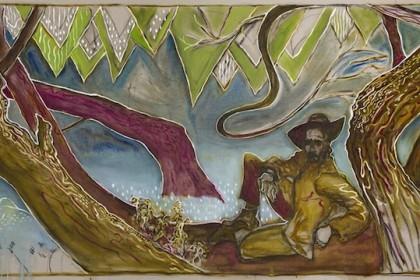 Billy Childish, man sat on willow, Kroonstad 1901, 2014