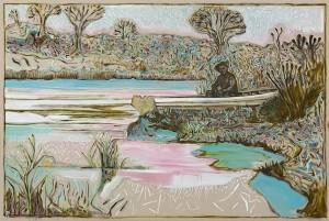 Billy Childish, river garden, Kroonstad 1901, 2014