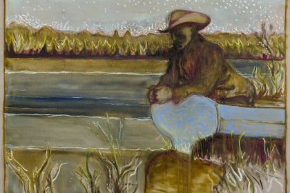 Billy Childish, the river garden, Kroonstad 1901, 2014