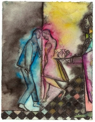 Chris Ofili, Mali Memory (Tea Dance), 2014