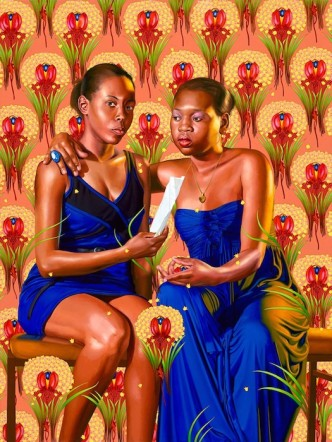 """Kehinde Wiley """"The Sisters Zénaïde and Charlotte Bonaparte (The World Stage: Haiti)"""" 2014"""