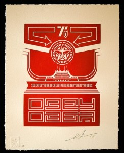 Shepard Fairey, Chinese Banner, 2014