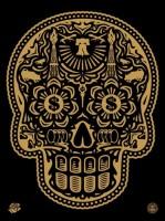 Shepard Fairey 'Power & Glory Day of the Dead Skull'
