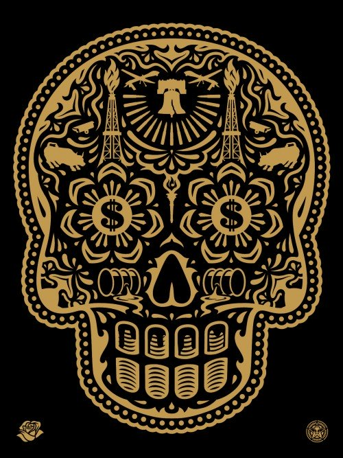 Shepard Fairey 'Power & Glory Day of the Dead Skull'