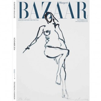 Tracey Emin, limited edition cover of the November 2014 issue of Harper's Bazaar.