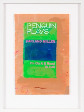 Harland Miller — I'm On A B Road To Hell, 2014