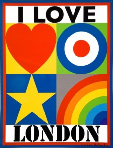 Sir Peter Blake, I LOVE LONDON, 2014