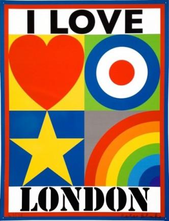 Sir Peter Blake, I LOVE LONDON, 2014