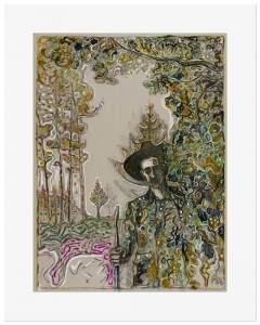 Billy Childish, edge of the forest, 2014.