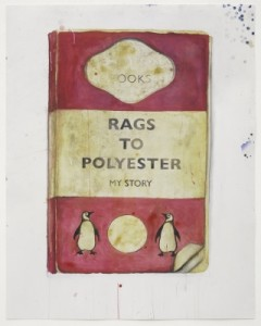 Harland Miller, Rags to Polyester, 2014