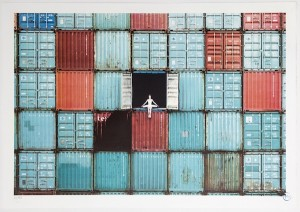 JR, The Ballerina in Containers, Le Havre, France, 2014
