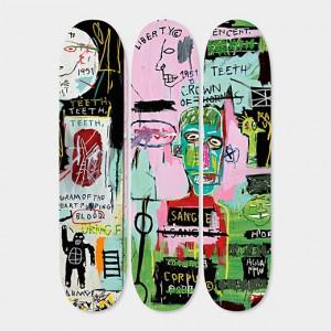 Basquiat Skateboard Triptych 'Italian', 2014