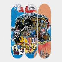 Basquiat Skateboard Triptych 'Skull', 2014