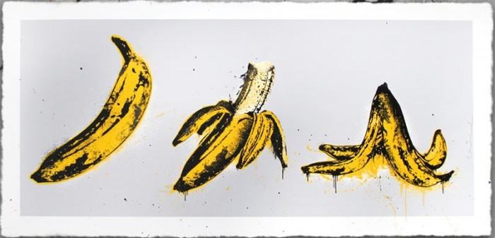 Mr Brainwash, Banana Split (grey), 2015