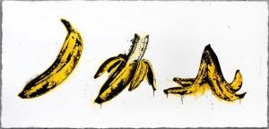 Mr Brainwash, Banana Split (White), 2015
