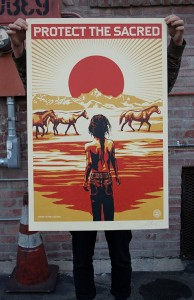 Shepard Fairey, Protect the Sacred, 2015.