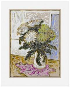 Billy Childish, chrysanthemums, 2015