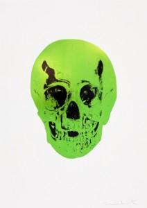 Damien Hirst — The Sick Dead: Lime Green / Raven Black