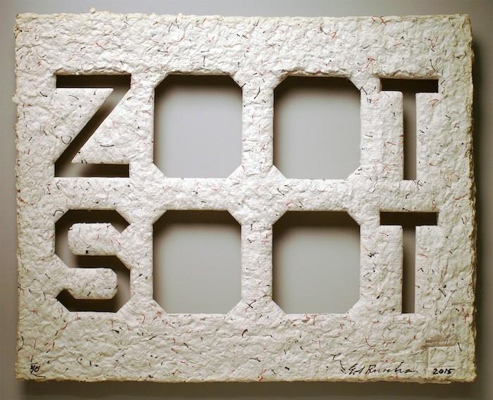 Ed Ruscha, ZOOT SOOT, 2015