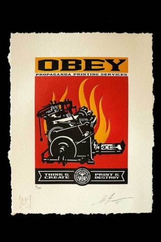 Shepard Fairey, Print and Destroy, 2015