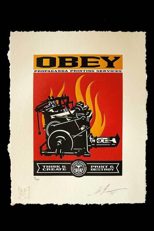 Shepard Fairey, Print and Destroy, 2015